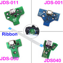 14Pin 12 Pin Charger Ribbon Cable For Sony PS4 Pro Controller JDS-040 USB Charging Board Socket Circuit