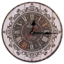 Hot Sale  Wall Clock Silent Retro Wooden Decorative Round Wall Hours Antique Vintage Rustic Wall Clocks Hight Quality Wholesale