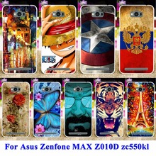 Hood Housing For Asus Zenfone Max Cases Soft TPU & Hard PC Painted Cover Case For Asus Zenfone Max ZC550KL Phone Bag Skin Shiled