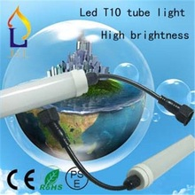 T10 led tube light 48W/40W/30W/24W/20W smd2835 high brightness with waterproof connector 28lm/led 50pcs/lot