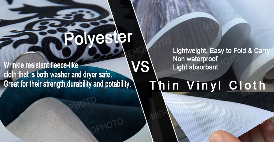Polyester vs vinyl cloth