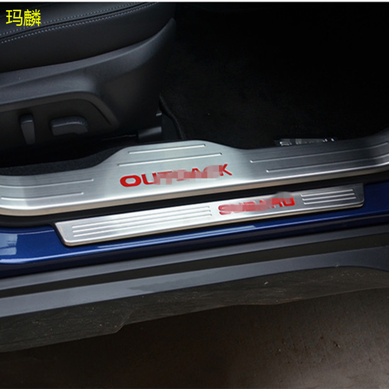 Great Stainless Steel Inside And Outside Door Sill Protector Door Threshold Guard Plate Pedal Car-styling For Outback 2015-2016<br><br>Aliexpress