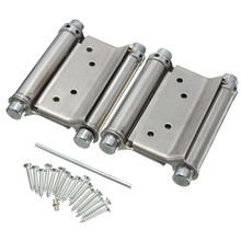 2Pcs 3 Inch Double Action Spring Hinge Saloon Cafe Door Swing Western Door(China)