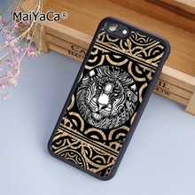 MaiYaCa Tiger head face Polynesian tribal tattoo fashion soft mobile cell Phone Case Cover For iPhone 5 5S SE Custom DIY cases(China)