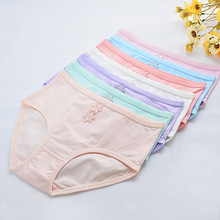Buy Women Cotton Solid Breifs Low-Rise Embroidered Soft Girls Panties 3XL Large Size Knickers Calcinha Lingerie Breathable Underwear
