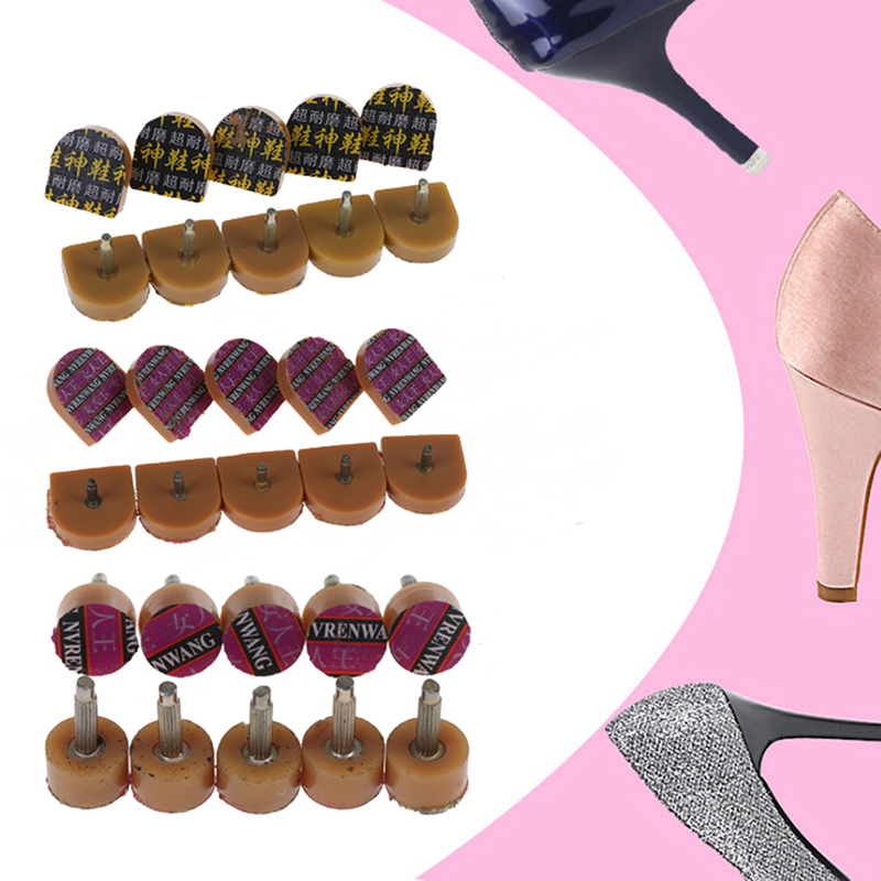 5 Pairs Brown High Heel Shoes DIY Repairs Tips Pin Dowels Lifts Replacement High Qualiy