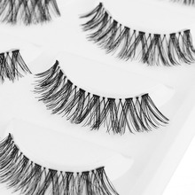 5 Pairs/Lot Sexy Fashion Women Black Cross Long False Eyelash Soft Durable Long Makeup DIY Eye Lash Extension Makeup Hot