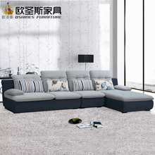 fair cheap low price 2017 modern living room furniture new design l shaped sectional suede velvet fabric corner sofa set X628