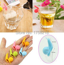 Randome Color!! 6 PCS Cute Snail Shape Silicone Tea infuser Bag Holder Cup Mug Candy Colors Gift Set GOOD cooking tools teapot