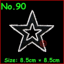 1 Pcs/Lot Star Pattern Hotfix Rhinestones Motif Iron On Crystal Patch For Children Clothes Women Wedding Dress Party DIY Garment(China)