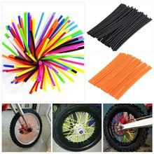 HOT 36Pcs Motorcycle Wheel Spoked Protector Wraps Rims Skin Trim Covers Pipe For Motocross Bicycle Accessories 10 Colors New(China)