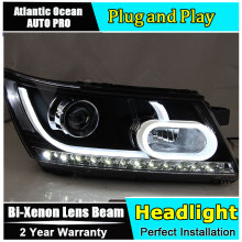 Auto.Pro Car Styling for Dodge JCUV LED Headlight Journey Headlights LED DRL Lens Double Beam HID KIT Xenon bi xenon lens
