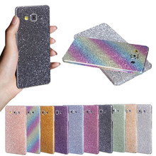 Bling Glitter Shiny Crystal Diamond Full Body Front and Back Wrap Decal Film Sticker Skin For Samsung Galaxy A7