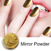 1g 3d Glitter Colors Mirror Powder with Two Brush Nails Pigment Ultrafine Powder Magic Glimmer Nail Art Decorations Accessories