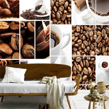 wall decor paper 3D Coffee beans puzzle room living room dining  hotel coffee shop wall covering murals-3d wall paper home decor