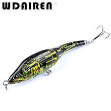 1Pcs 9.5cm 8.9g 3 Sections Fishing Minnow Lure Artificial Bait Treble Hooks Painted Crankbait Fishing Tackle FA-419
