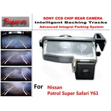 for Nissan Patrol Super Safari Y61 CCD Car Backup Parking Camera Intelligent Tracks Dynamic Guidance Rear View Camera