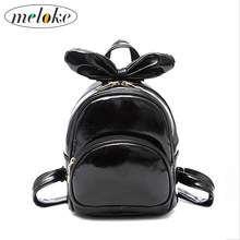 ... Meloke 2018 Small Backpack Hard PU Leather Mini Backpack For Girls  Female Big Bowknot Children Backpack  Moon Wood ... 3626828572
