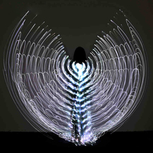 2017 Stafe Performance Prop Women Dancewear Girls DJ LED Wings Light Up Wings Belly Dance Wing Costume