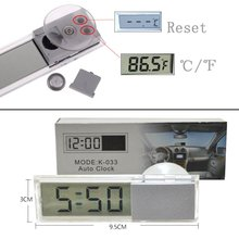 Suction Vehicle Digital LCD Display Car Windshield Rear View Mirror LCD Digital Temperature Meter Thermometer Auto