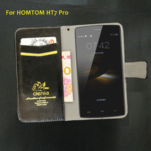 Buy TOP New! HOMTOM HT7 Pro Case 5 Colors Flip Ultra-thin Leather Case Exclusive Phone Cover Credit Card Holder Wallet+Tracking for $6.88 in AliExpress store