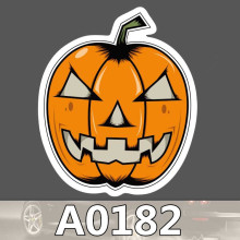 10pcs Kids Toy Sticker Evil pumpkin Stickers Funny Stickers For Kids Cartoon Home Decor Laptop Skateboard Stickers(China)