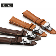 iStrap High quality Watchband 18mm 19mm 20mm 21mm 22mm  Watch Strap Band with Deployment  buckle for Omega Tissot Seiko Casio