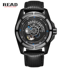 2016 READ Top Brand Watch MenWatches Men Army Watches Steel Sport Military Men Wristwatch Black Automatic Mechanical Movement