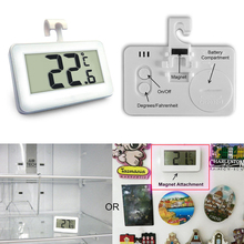 Wireless LCD Digital Refrigerator Freezer Indoor Room Thermometer with Magnet Hook Tool New --M25(China)