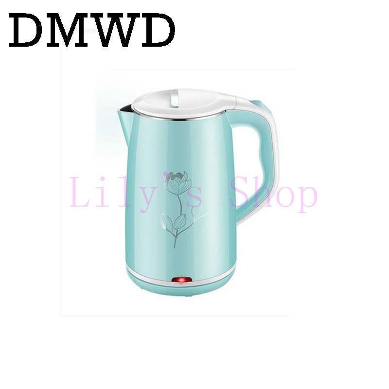 Electric kettle stainless steel anti-hot water heating kettles household tea pot Anti Dry Boiling teapot EU US plug 1500W 1.8L<br>