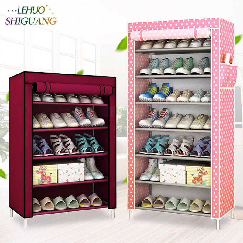 Shoe cabinet 8-layer 7-grid Non-woven fabrics large shoe rack organizer removable shoe storage for home minimalist furniture <br>