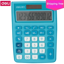 [ReadStar]Deli 1238A 12 digits Office Desktop calculator student officers dual power supplier  solar & battery shipping free