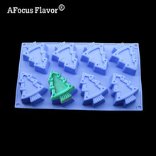 1 Pc DIY Christmas Decoration Fondant Cake Mold Silicone Bakeware Cookie Embossing Tools Handmade Soap Making Stencil(China)