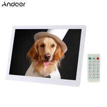 "Andoer 15.6"" LED Digital Picture Frame 1280*800 High Resolution Photo Display Alarm Clock Movie Player w/ Remote Control Gift(China)"