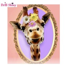 5d Diy Diamond Painting Giraffe Full Square Rhinestones Cross Stitch Kit Diamond Embroidery Mosaic Needlework(China)