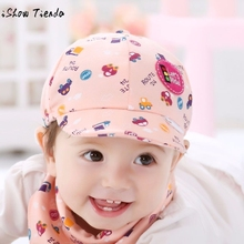 Baby Hat Photography Cute Cartoon Printing Toddler Infant Cap Little Car Baseball Cap Gorro Infantil(China)