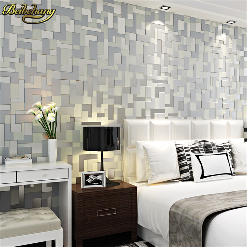 beibehang Modern brief mosaic 3d wallpaper stereotelevision TV background wallpaper embossed wallpapers non-woven wallpaper<br>