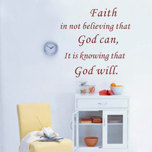 Faith Quotes Vinyl Wall Sticker Positive Saying God Will Wall Decals For Home Living Room Decoration