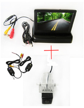 Wireless Color CCD Car Rear View Camera for Mercedes-BenzC/E/S/C/CL CLASS W204 W212 W216 W221 C207+4.3 Inch foldable LCD Monitor(China)