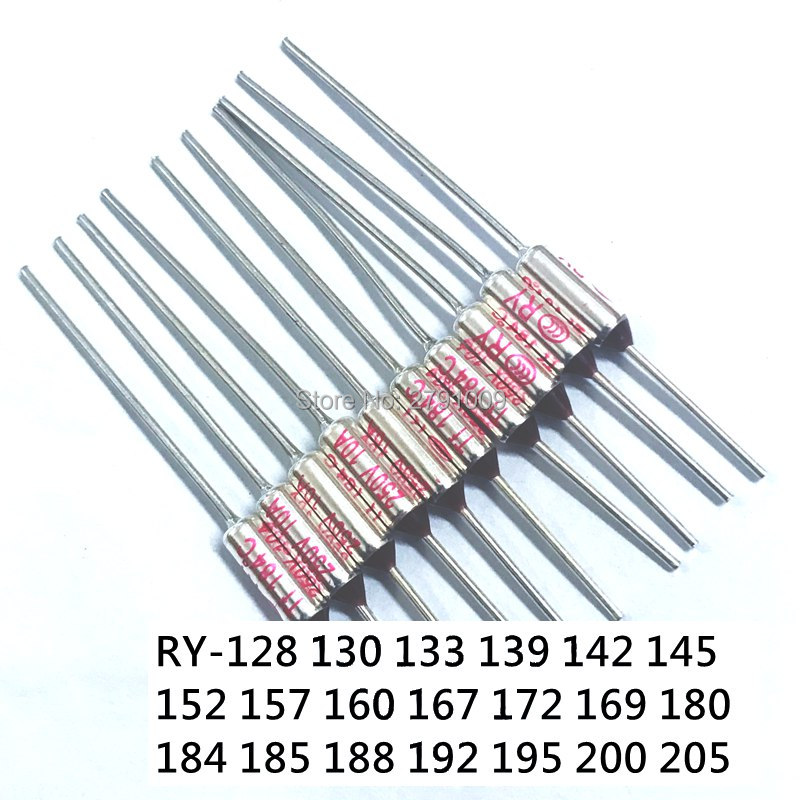 10pcs Microtemp Thermal Fuse 195°C 195 Degree TF Cutoff Cut-off 10A AC 250V New