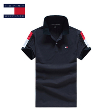 TOMMY HILFIGER shoulder in color individuality pure color polo shirt for man