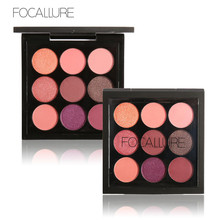 FOCALLURE Brand 9 Colors Makeup Eyeshadow Palette Shimmer & Matte Eye shadow Palette Smoky Highly Pigmented EyeShadow Pallete
