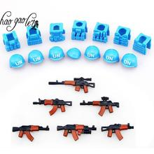 hao gao le guns+ helmet Beret UN Bulletproof Vest AK Weapons Pack Military Army Bricks City Blocks Toys Compaitble with legao