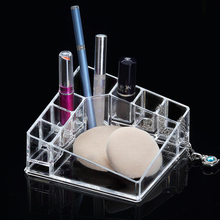 New Acrylic Makeup Organizer Make Up Lipstick Nail Polish Crystal Storge Box Plastic(China)