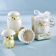 "(DHL,UPS,Fedex)FREE SHIPPING+50sets/Lot+""About to Hatch"" Ceramic Baby Chick Salt&Pepper Shakers Baby Shower Favors(China)"