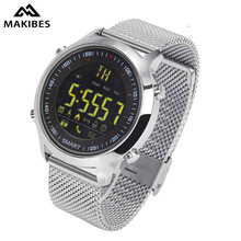 Makibes EX18 Smart Watch 5ATM Water Resistant Bluetooth 4.0 Call SMS Reminder Pedometer Sleep Monitor Compatibie Android and iOS