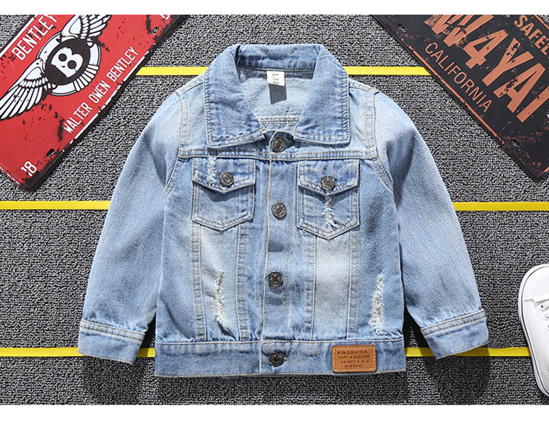 19 Mickey Denim Jacket For Boys Fashion Coats Children Clothing Autumn Baby Girls Clothes Outerwear Cartoon Jean Jackets Coat 3
