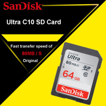 Original SanDisk SD Card 128GB 64GB 32GB Class 10 Memory Card 16GB C10 80MB/s SDHC SDXC Carte SD Support Official Verification(China)