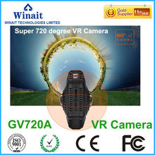 720VR multi image mode 32GB memory 2600mA lithium battery 1280*1024 25fps USB2.0 micro SD card slot mini action camera GV720A