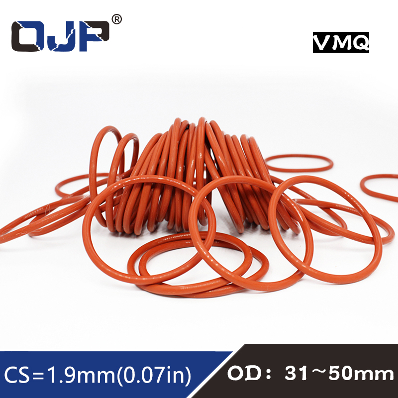 5Pcs Red Round Nitrile Butadiene Rubber NBR O-Ring 32mm OD 1.9mm Width